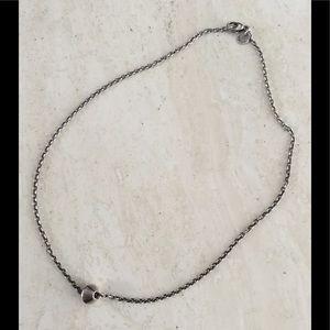 Tiffany & Co. Silver Barrel Bead Pendant Necklace
